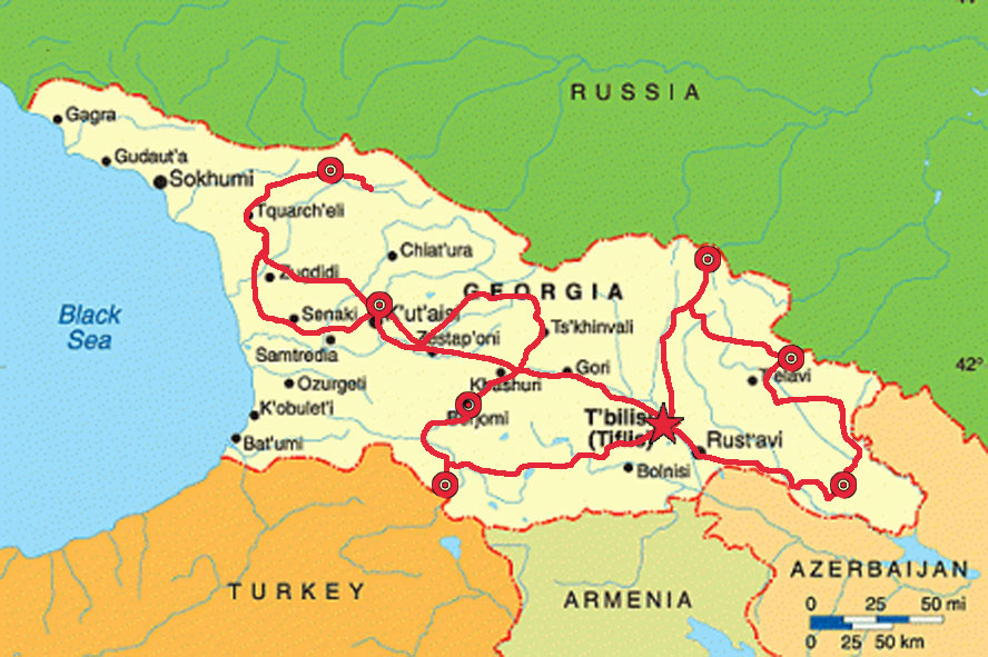 Join the pre-war rally in the Caucasus, Georgia